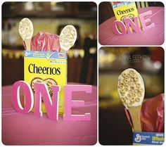 I wish my babies liked cheerios this much, JUST to have this awesomely decorated party. Who knew Cheerios could look SO CUTE!
