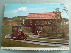 Six Flags Over Mid America Amusement Park Antique Car Ride MISSOURI MO Postcard