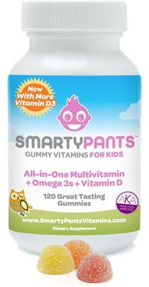 SmartyPants All-in-One Gummy Vitamins for Kids: Multivitamin + Omega + Vitamin Day Supply) Vitamin D3, Fish Oil, 3 Fish, Vitamins For Kids, Diet Books, Alkaline Diet, Healthy Kids, Healthy Food, Healthy Living