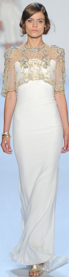 https://www.etsy.com/shop/Whitesrose?ref=si_shop Go here for your Dream Wedding Dress and Fashion Gown!  SPRING 2014 RTW Badgley Mischka look11