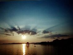 Beautiful blue rays of a sunset at Cedar Key. Pic found on View The Nature Coast.
