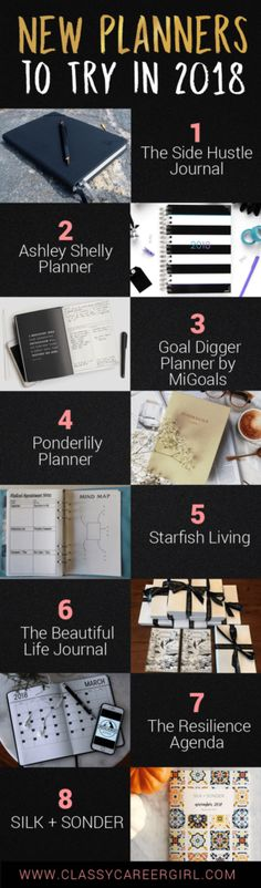 New Planners to try in 2018! | Classy Career Girl