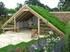 30 Gorgeous Garden Design Ideas You Need To See is part of Green roof - Designing your personal garden could be a really rewarding process The best way to shape the region in that your garden is… Patio Design, Garden Furniture, Ikea Furniture, Repurposed Furniture, Backyard Landscaping, Backyard Patio, Outdoor Gardens, Roof Gardens, Design Ideas
