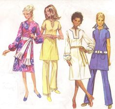 1970s Simplicity Sewing Pattern 9057 Womens Jiffy by CloesCloset, $10.00