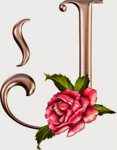 "Photo from album ""Rose_Alphabet"" on Yandex. Flower Alphabet, Alphabet Art, Alphabet And Numbers, Letter Art, Creative Lettering, Lettering Design, Hand Lettering, Calligraphy Art, Silver Flowers"