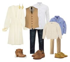 """""""Family with neutral colors"""" by bethanydarin on Polyvore featuring Hollister Co., Scotch & Soda, Étoile Isabel Marant, Original Penguin, JustFab, (+) PEOPLE, Chupi and Timberland"""