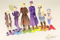 Nordic by kanonyui on DeviantArt - APH Hetalia <<<<< Is the rainbow a euphemism for how gay they all are?