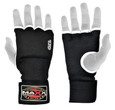 From 5.99 New Gel Inner Hand Wraps Boxing Gloves Fist Padded Bandages Mma Ufc Pad Rrp 9.99 (black & White L)