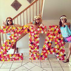 Zeta Tau Alpha at Mississippi State University #ZetaTauAlpha #ZTA #Zeta #BidDay #neon #letters #sorority #MississippiState