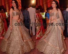 Pragya Jaiswal at Anindith Reddy Shriya Bhupal Wedding - Saree Blouse Patterns