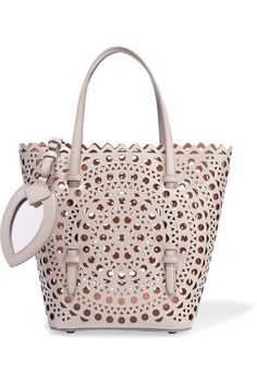 Alaïa - Laser-cut Leather Tote - Gray - one size