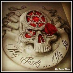 I Love Skull Art : Photo
