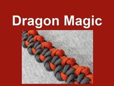 How to make a Dragon Magic Paracord Bracelet Tutorial (Paracord 101)