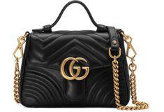97a266e1336 GG Marmont mini top handle bag  chanelboytophandle Gucci Marmont Mini