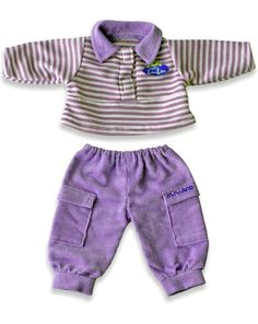 Miniland Dolls Outfit Purple Trousers & Top