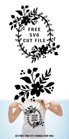 Free Floral Spray/Wreath SVG cut file
