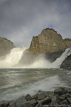 Rainbow and Virginia Falls, one of Canada's largest waterfalls, Nahanni National Park, Northwest Territories