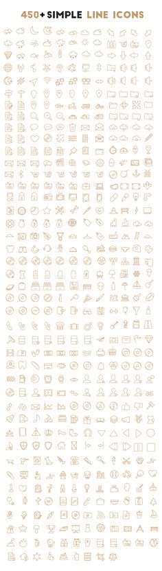 450+ Simple Oultine Icons (FREE DOWNLOAD) on Behance