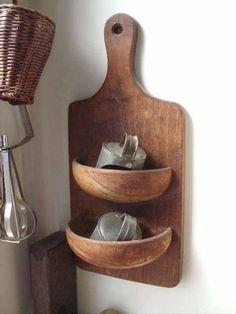 Repurposed Items, Repurposed Furniture, Diy Furniture, Repurposed Wood, Upcycled Vintage, Luxury Furniture, Vintage Items, Kitchen Wall Art, Kitchen Decor