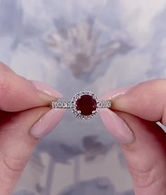 Vintage Oval Engagement Rings, Ruby Wedding Rings, Ruby Engagement Rings, Ruby Ring Vintage, Unique Diamond Rings, Ruby Diamond Rings, Ruby Rings, Ruby Ring Designs, Gold Earrings Designs