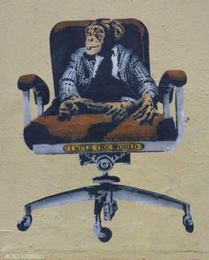 Unknown Artist : Lyon France ;09/2014 #streetart #business