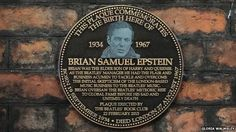 A plaque commemorating The Beatles manager Brian Epstein has been unveiled at his birthplace in Liverpool. The memorial was. Nowhere Man, Liverpool Home, Les Beatles, Commercial Ads, England And Scotland, Great Britain, How To Memorize Things, Management, Humor
