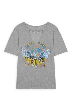 Grey Van Halen Chocker T-Shirt