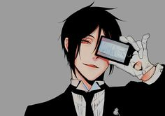 Love this picture soooo much ! Dear Sebastian Michaelis please be my butler ! Black Butler Anime, Black Butler Sebastian, Black Butler Funny, Manga Anime, Fanarts Anime, Anime Characters, Anime Art, Manga Girl, Anime Girls