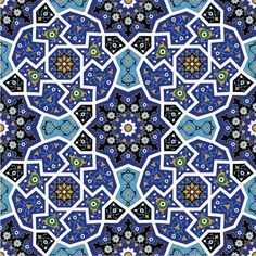 Mosaic Art Patterns | ... Artistic Decoration) » Islamic Patterns » Islamic Mosaic Pattern