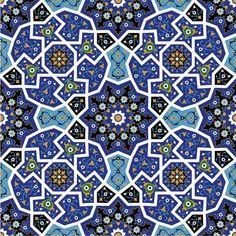 Mosaic Art Patterns   ... Artistic Decoration) » Islamic Patterns » Islamic Mosaic Pattern