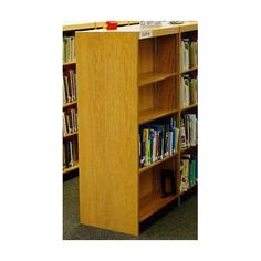 "W.C. Heller Double Face Shelf 60"" Standard Bookcase Size: 60"" H x 38"" W x 16"" D, Finish: Bleached Mahogany"