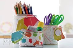 DIY for BloomCraft; boxes for pencils; Boxes, Pencil, Scrapbook, Blog, Diy, Crates, Bricolage, Box, Scrapbooking