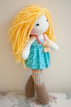READY TO SHIP Crochet Doll. by LinaMarieDolls on Etsy https://www.etsy.com/uk/shop/LinaMarieDolls?ref=l2-shopheader-name