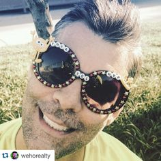 Congrats to Anthony ・・・ This is Anthony. The YMKA summer kickball MVP. We love him with the very fibre of our beings. This season would not have been the same without him. I hope he enjoys the custom @delosninjas sunglasses we made for this summer season of the @varsitygayleague. Who needs a trophy when you've got these glasses. Thanks @delosninjas for hooking me up at such short notice. #weho #westhol