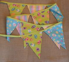 Fabric Banner - Fabric Bunting - Spring Easter - Green by monkeyandlamb on Etsy