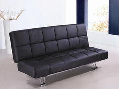 Venus Black Leatherette Sofa Bed SKU1754421