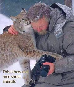 this is how REAL MEN shoot animals..