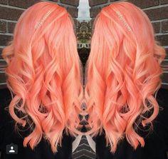 Orange pastel hair