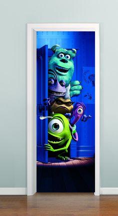 Porta com profundidade ( Monstros S/A 02) à partir de R$ 99,00  *Solicite uma imagem para sua porta, criamos ela pra você!!!