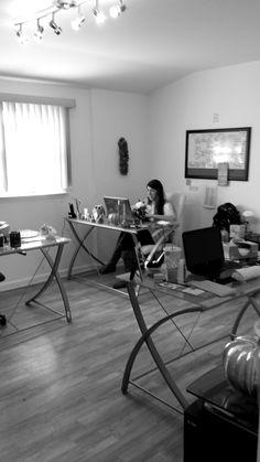 Lauren getting her work done