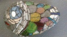 taş üzerine cam mozaik uygulama...