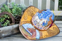 Hand Painted Arabian Horse Cowboy Hat, Hand Painted Straw Hat by Laurie Jordan. - #CowgirlChic