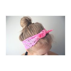 For the Love of Hair / bandana ❤ liked on Polyvore featuring hair, hairstyles, pictures, bandanas and buns