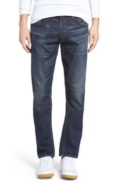 New Citizens of Humanity Bowery Slim Fit Jeans (Hesperia) ,BLACK WHITE fashion online. [$218]newtopfashion top<<