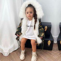 Cute Kids Fashion, Baby Girl Fashion, Toddler Fashion, Toddler Outfits, Fashion Children, Trajes Kylie Jenner, Black Baby Girls, Baby Boys, Cute Babies Photography
