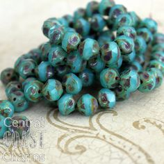 I love love love these Czech Center Cut Baroque Glass Beads!!!! Faceted centers with a sepia picasso finish on the sides. s i z e: 9mm x 5mm c