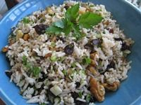 """Balsamic Cherry Rice Salad With Toasted Walnuts - """"Sizzlin' Summer Rice Salad Contest"""" 3rd Place Winner - Jasmin Baron"""
