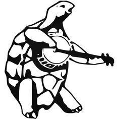Grateful Dead Terrapin Station Turtle Vinyl Decal Sticker  BallzBeatz . com Turtle Silhouette, Silhouette Images, Cricut Vinyl, Vinyl Decals, Grateful Dead Tattoo, Pumpkin Eyes, Simple Tats, Finding A Hobby, Vinyl Designs