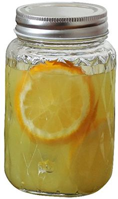 Glass Mason Jars Drink Mugscups with Metal Lids Set of 4 17 Ounce Each Diamond Shaped Treasure Edition By Circleware Limited Edition Glassware Serveware Drinkware Drinking Glasses *** For more information, visit image link.Note:It is affiliate link to Amazon.