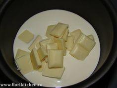 Crema de mascarpone si ciocolata alba – Flori's Kitchen Buttercream Cake, Cream Recipes, Feta, Dairy, Cheese, Desserts, Sweets, Kitchens, Bakken